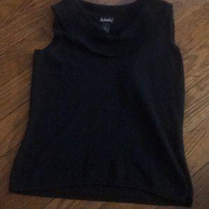 Rafaela black sleeveless sweater